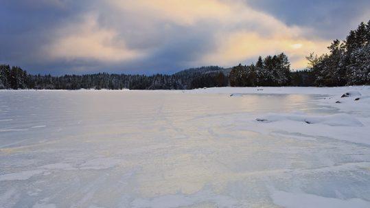 Sécurité sur la glace lac Chapleau
